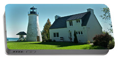 Old Presque Isle Lighthouse_9480 Portable Battery Charger by Michael Peychich