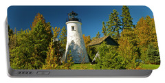 Old Presque Isle Lighthouse_9488 Portable Battery Charger by Michael Peychich