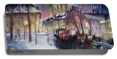 old Quebec Portable Battery Charger by Peter Suhocke