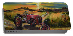 Old Red At Sunset - Tractor Portable Battery Charger