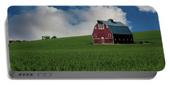 Old Red Barn In The Palouse Portable Battery Charger by James Hammond