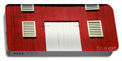 Old Red Barn Portable Battery Charger by Paul W Faust - Impressions of Light