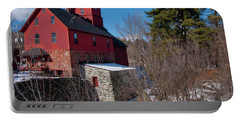 Portable Battery Charger featuring the photograph Old Red Mill - Jericho, Vt. by Joann Vitali