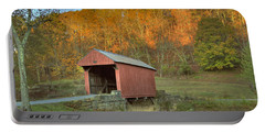 Old Red Or Walkersville Covered Bridge Portable Battery Charger