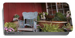 Portable Battery Charger featuring the photograph Old Rockin' Chair by Susan Rissi Tregoning