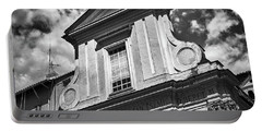 Old Roman Building In Black And White Portable Battery Charger