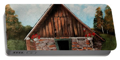 Portable Battery Charger featuring the painting Old Root House by Anastasiya Malakhova