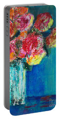 Old Roses Portable Battery Charger by Veronica Rickard