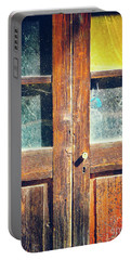 Portable Battery Charger featuring the photograph Old Rotten Door by Silvia Ganora