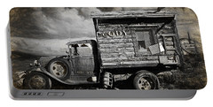 Old Rusted Truck From Cody Wyoming Portable Battery Charger