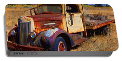 Old Rusting Flatbed Truck Portable Battery Charger