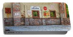 Portable Battery Charger featuring the photograph Old Saloon Wall by Doug Camara