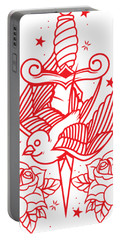 Old School Tattoo Portable Battery Charger