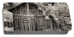 Old Shed In Sepia Portable Battery Charger by Greg Nyquist