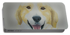 Portable Battery Charger featuring the painting Old Shep by Norm Starks