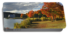 Old Stone Church Autumn Glow Portable Battery Charger