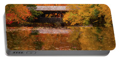 Portable Battery Charger featuring the photograph Old Sturbridge Village Covered Bridge by Jeff Folger