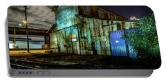 Old Tacoma Industrial Building Light Painted Portable Battery Charger by Rob Green