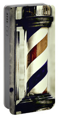 Old Time Barber Pole Portable Battery Charger