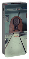 Portable Battery Charger featuring the photograph Old Time Kitchen Table by Edward Fielding