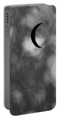 Portable Battery Charger featuring the photograph Old Time Quarter Moon by John Glass