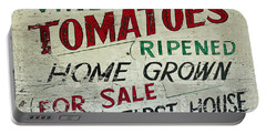 Old Tomato Sign - Vine Ripened Tomatoes Portable Battery Charger
