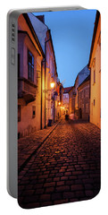 Old Town By Night In Bratislava City Portable Battery Charger