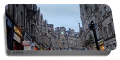 Old Town Edinburgh Portable Battery Charger by Margaret Brooks