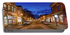 Old Town Evening Portable Battery Charger by Greg Nyquist