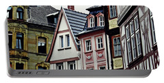 Old Town Mainz Portable Battery Charger by Sarah Loft
