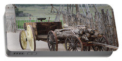 Old Tractor And Wagon In Foreground Cove Creek Fort Photography By Colleen Portable Battery Charger