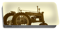 Old Tractor IIi In Sepia Portable Battery Charger