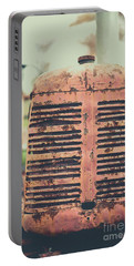 Portable Battery Charger featuring the photograph Old Tractor Vintage Look by Edward Fielding