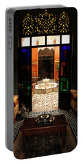 Old Traditional Riad In Fez Portable Battery Charger