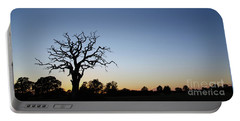 Old Tree Silhouette Portable Battery Charger