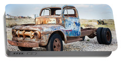 Portable Battery Charger featuring the photograph Old Truck by Silvia Bruno