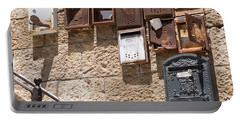 Old  Mailboxes In Jerusalem Portable Battery Charger
