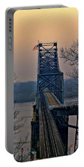 Portable Battery Charger featuring the digital art Old Vicksberg Bridge Of Mississippi by Bonnie Willis