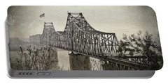 Portable Battery Charger featuring the digital art Old Vicksberg Bridge2 by Bonnie Willis
