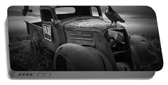 Old Vintage Chevy Pickup Truck With Ravens Portable Battery Charger