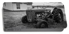 Portable Battery Charger featuring the photograph Old Vintage Tractor Iceland by Edward Fielding