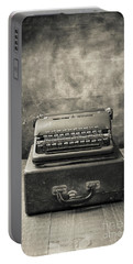 Portable Battery Charger featuring the photograph Old Vintage Typewriter  by Edward Fielding