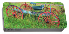 Portable Battery Charger featuring the photograph Old Wagon by Marion Johnson