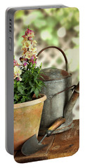 Old Watering Can With Plant Portable Battery Charger
