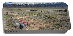 Old West Rocky Mountain Cemetery View Portable Battery Charger by James BO Insogna