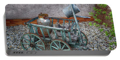 Old Wheelbarrow With Milk Churn Portable Battery Charger