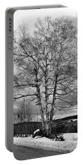 Old White Birch Portable Battery Charger