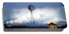 Old Windmill And Tank 2017 Portable Battery Charger