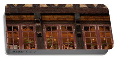 Portable Battery Charger featuring the photograph Old Windows - 365-275 by Inge Riis McDonald
