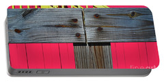 Old Wood Pinked Out Portable Battery Charger